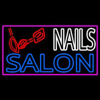 Double Stroke Nail Salon Logo Neon Sign