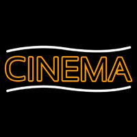 Double Stroke Orange Cinema Neon Sign