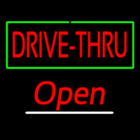 Drive Thru Open Neon Sign