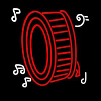 Drum Musical Note Logo Neon Sign