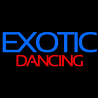 E otic Dancing Strip Club Neon Sign
