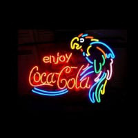 Enjoy Coca Cola Parrot Neon Sign