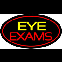 Eye E ams Oval Red Neon Sign