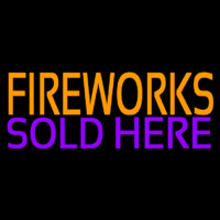 Fire Work Sold Here 2 Neon Sign
