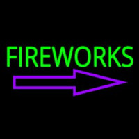 Fireworks With Arrow 1 Neon Sign