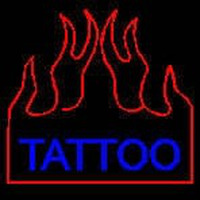 Flaming Tattoo Neon Sign