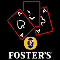 Fosters Ace And Poker Beer Sign Neon Sign