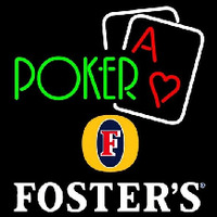 Fosters Green Poker Beer Sign Neon Sign