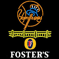 Fosters New York Yankees Beer Sign Neon Sign