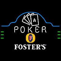 Fosters Poker Ace Cards Beer Sign Neon Sign