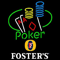 Fosters Poker Ace Coin Table Beer Sign Neon Sign