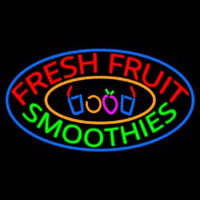 Fresh Fruit Smoothies Neon Sign
