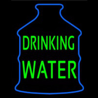 Green Drinking Water Logo Neon Sign