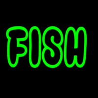 Green Fish Neon Sign