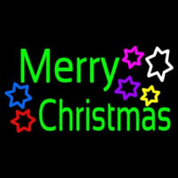 Green Merry Christmas Neon Sign