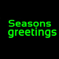Green Seasons Greetings Neon Sign