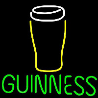 Guinness Glass 2 Beer Sign Neon Sign