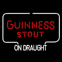 Guinness Stout ON DRAUGHT Neon Sign