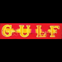 Gulf Gasoline Neon Sign