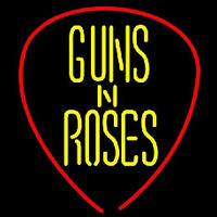 Guns N Roses Guitar Pick Rock Band Neon Sign