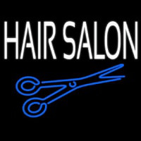 Hair Salon With Scissor Neon Sign