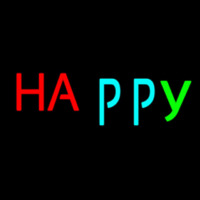 Happy Neon Sign