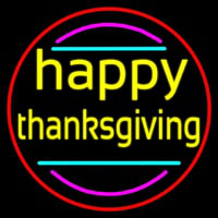 Happy Thanksgiving 1 Neon Sign