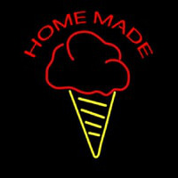 Home Made Ice Cream Cone Neon Sign