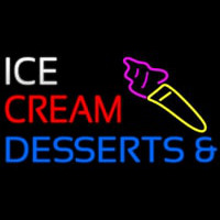 Ice Cream And Desserts Neon Sign