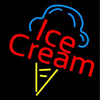 Ice Cream Logo Neon Sign