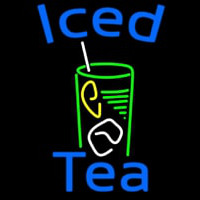 Iced Tea With Glass Neon Sign