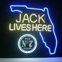 Jack Daniels Jack Lives Florida Whiskey Neon Sign
