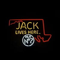 Jack Daniels Jack Lives Here Maryland Whiskey Neon Sign