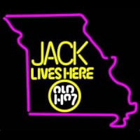 Jack Daniels Jack Lives Here Missouri Whiskey Neon Sign