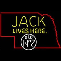 Jack Daniels Jack Lives Here Nebraska Whiskey Neon Sign