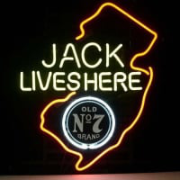 Jack Daniels Lives Here New Jersey Whiskey Neon Sign
