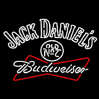 Jack Daniels with Budweiser Neon Sign