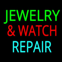 Jewelry And Watch Repair Block Neon Sign