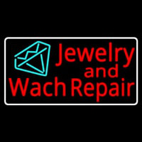 Jewelry And Watch Repair Turquoise Diamond Logo Neon Sign