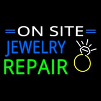Jewelry Repair On Site Neon Sign