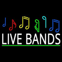 Live Bands Block 2 Neon Sign