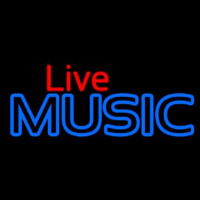 Live Music Blue 1 Neon Sign