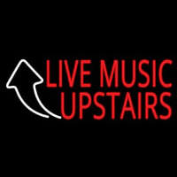 Live Music Upstairs 1 Neon Sign
