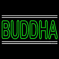 Lord Buddha With White Line Neon Sign