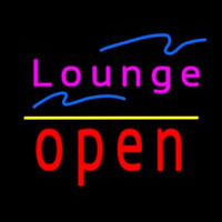 Lounge Open Yellow Line Neon Sign