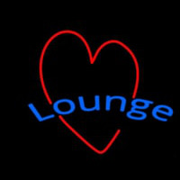 Lounge With Heart Neon Sign