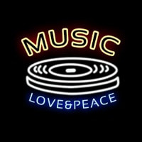 MUSIC LOVE PEACE Neon Sign