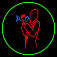 Man With Trumpet Neon Sign