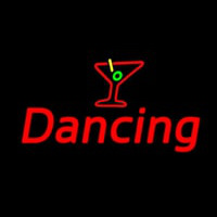 Martini Glass Dancing Neon Sign