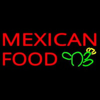 Me ican Food Logo Neon Sign